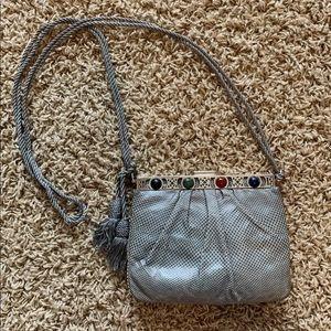 Auth Judith Leiber Vintage Lizard Shoulder Bag!